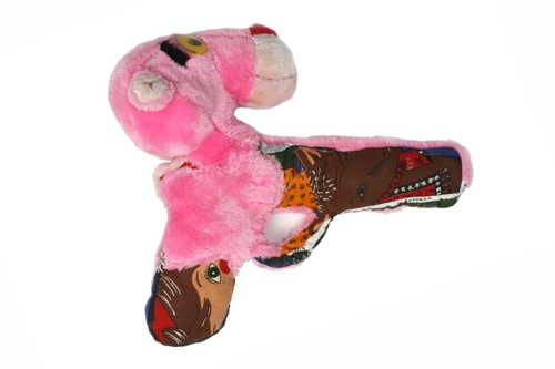 Gun made out of stuffed animals