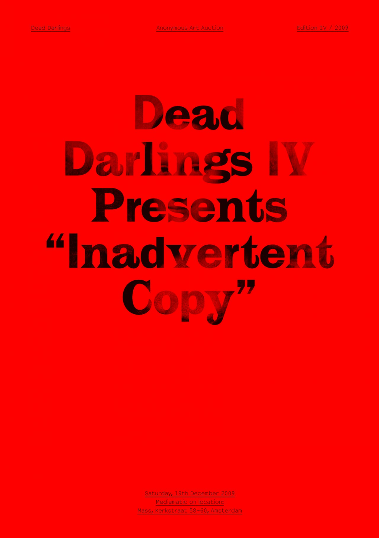 Dead Darlings Catalogues